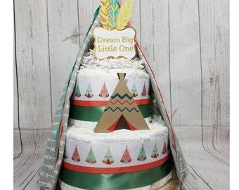 Teepee Diaper Cake