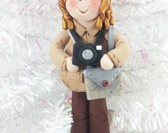 Polymer Clay Photographer Christmas Ornament - Handmade Christmas Ornament - Photographer Christmas Ornament  - Gift for Photographer - 368
