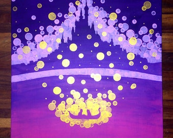 Tangled Castle Painting//Tangled Lanterns//Princess Room//Disney Room