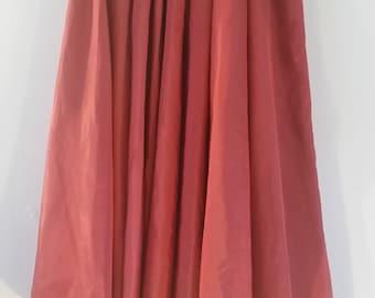 Rock n roll full skirt 1950s style tafata skirt