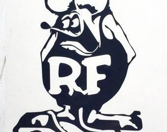 DIY Rat Fink Decal cut from Vinyl