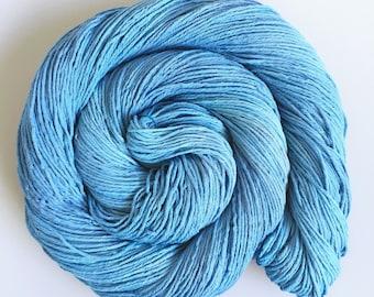 Hand Dyed SuperCotton Sock Australian Cotton china blue 100g 324m