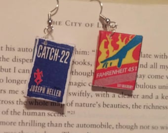 Book Earrings - Catch-22 and Fahrenheit 451