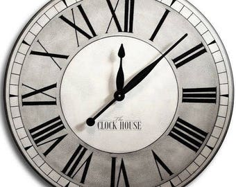 36in Clock, Wedding, Personalized gift, Wedding gift, Wood clock, Shabby Chic, Shabby Chic decor, Large wall clock, Clocks, OXFORD CLOCK