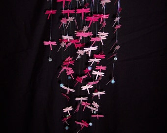 Pink Dragonfly Mobile