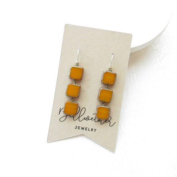 Stacked Earrings > Yellow Ochre