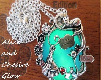 Alice and Cheshire Glow Necklace