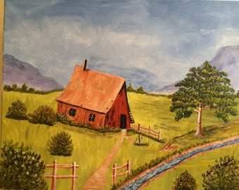 "Painting ""Red Barn"""