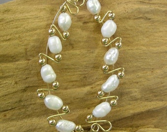 SALE - Ear Climbers - Pearl Earrings - Genuine Freshwater Pearls Fancy Long Ear Sweeps - Up The Ears - June Birthstone - Bridal Jewelry