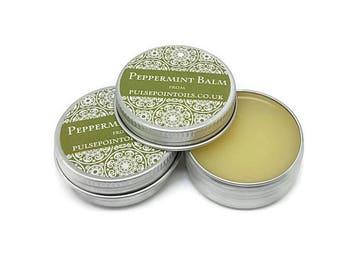 Peppermint Lip balm. Foot balm. Tired leg massage balm. Headache salve. Travel sickness balm. Concentration salve. Nourishing, healing balm