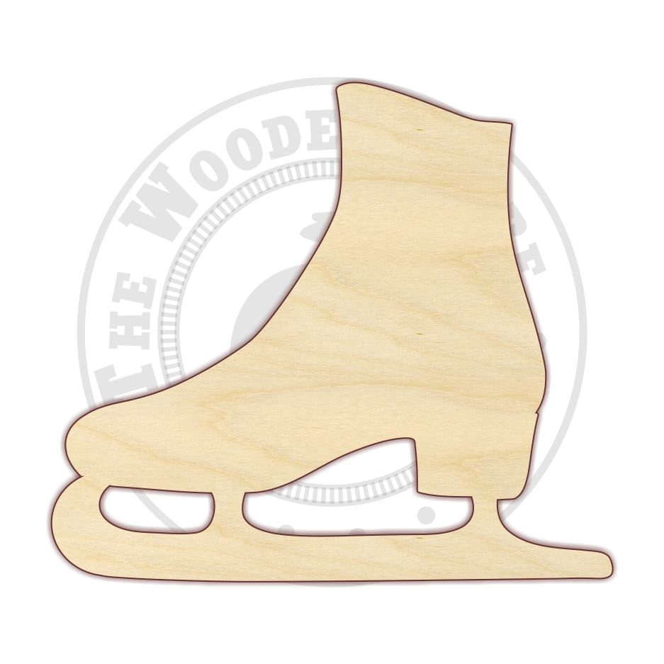 templates for wood cutouts - 4 12 ice skate wood cutout 170197 unfinished
