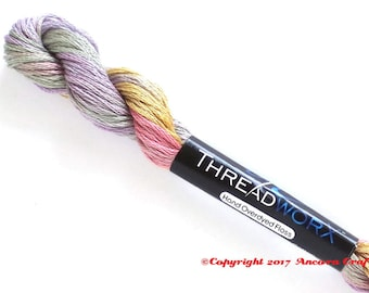 Variegated Embroidery Floss ThreadworX 1078 Pastel Bouquet