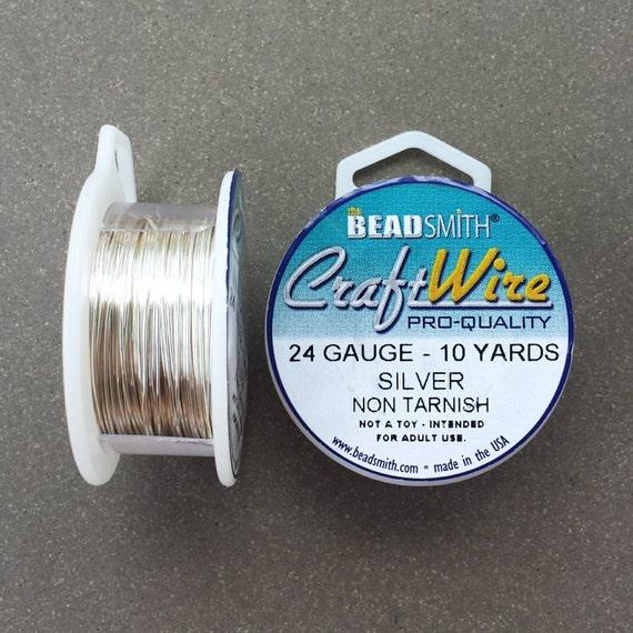 24 gauge Silver Plated Craft Wire 10 yards 24 GA
