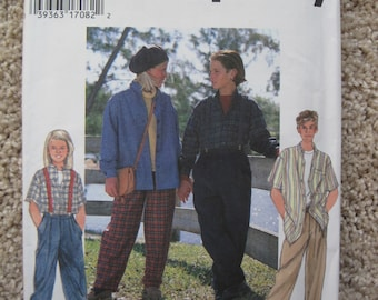 UNCUT Girls and Boys Separates - Size 12/14 - Simplicity Sewing Pattern 9733 - Vintage 1995