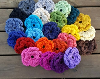 Interchangeable Flowers ~ Chunky Flower for The Sophia Hat ~ Crochet Flower