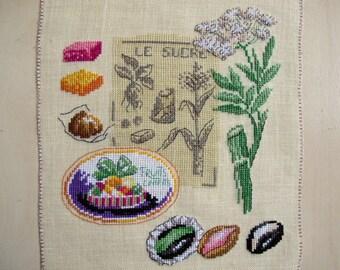 """Winter sun"" embroidery cross stitch"