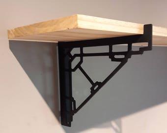 Metal Shelf Brackets ( Two Piece Set) - Mission, Craftsmen, Art Deco, Modern, Minimalist