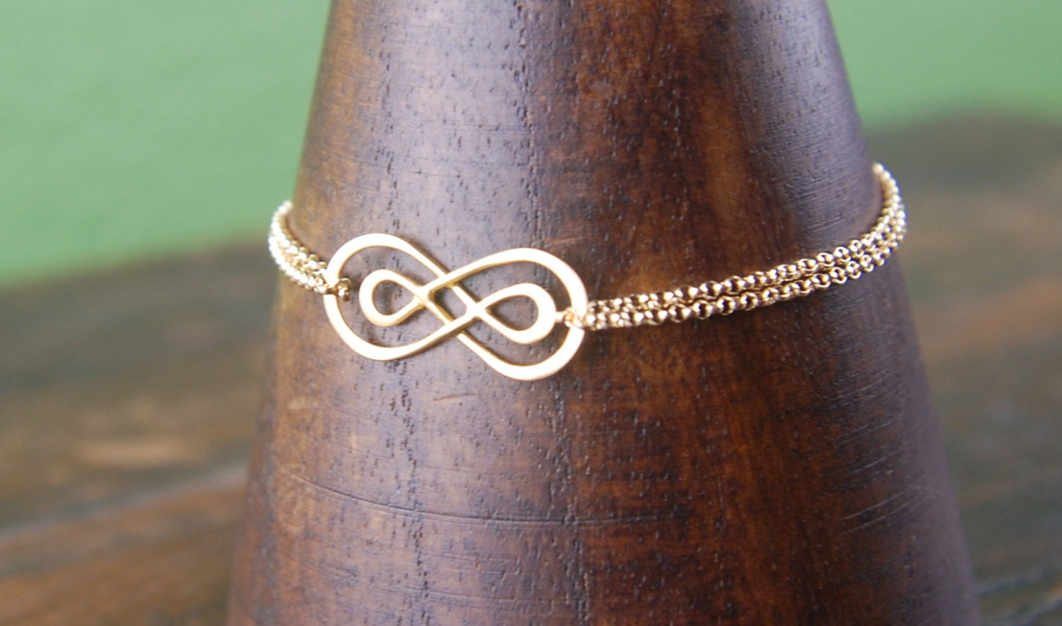Gold double infinity bracelet and gold filled chain infinity zoom biocorpaavc Image collections