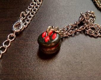 Handmade Harley Quinn Themed Polymer Clay Macaron Charm Necklace DC Universe Batman Gotham Villain Suicide Squad Puddin' Harleen Quinzel