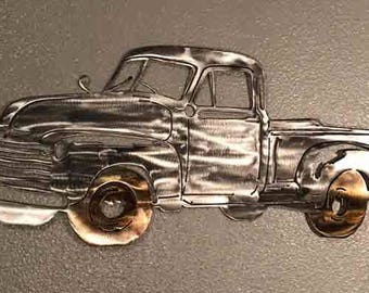 Ordinaire 1951 Chevy Truck, Metal Art, Metal Wall Art, Home Decor, Metal Wall