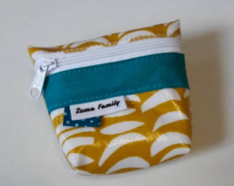 Wallet mustard yellow and turquoise