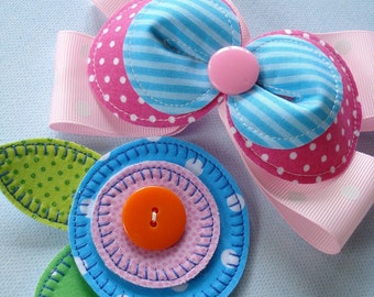 Sewing Pattern for Flower Hair Accessories Number 1 - PDF e-Pattern
