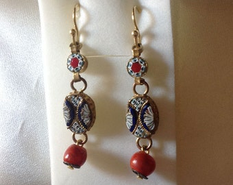 Earrings mosaics
