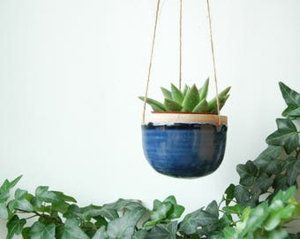 Hanging Planter - bright blue