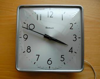 Simplex Wall Clock - Industrial Institutional - Modern Wall Clock