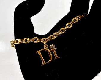 Diamonds International Gold Tone Bracelet DI Charm Bracelet Vintage DI Bracelet Di Bracelet Gold Tone DI Bracelet