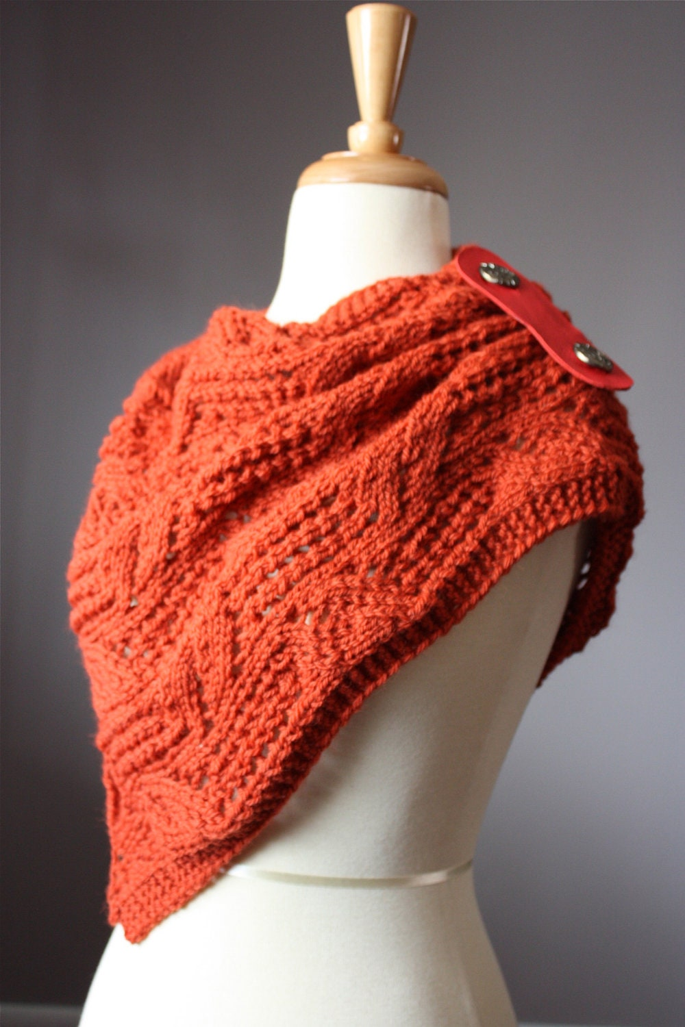 Knitting pattern hand knit lacy leafy scarf neck warmer zoom bankloansurffo Choice Image