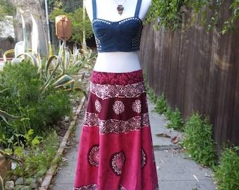ViNtAgE 80's Batik skirt size M