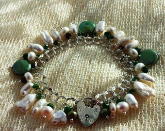 New Beginnings Sterling Silver Emerald Charm Bracelet