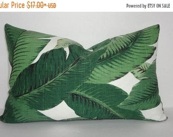 SPRING OUTDOOR SALE Outdoor/Indoor Palm Tree Pillow Cover Tommy Bahama Swaying Palms Lumbar Pillow Cover Deck Porch  12x18 12x20
