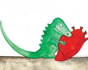 Dragon Holding Heart
