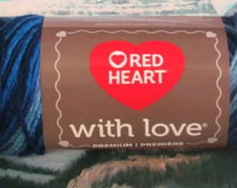 4001937 Red Heart with Love 5 oz Deep Blues