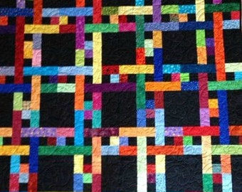 Weave black and bright quilt