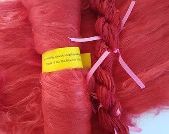 Dracula Red Art Yarn / 19 For The Blood Is The Life / 50g / Crimson / Scarlet / Gothic / Vampire / Bram Stoker / Flames / Knitting / Crochet
