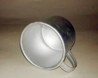 Vintage military cup, Aluminum mug, Home decor Military, vintage travel mug, Camp mug Kitchen decor, Soviet Vintage cold war collectible