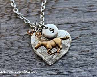 Horse Necklace, Horse Jewelry, Equestrian Jewelry, Equine Necklace, Cowgirl Jewelry, Horse Lover Gift