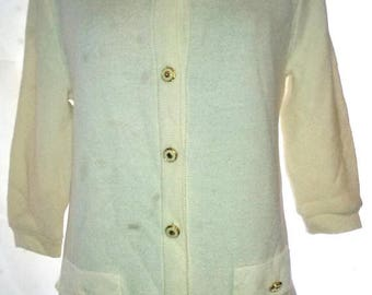 "BIG HOLIDAY SALE-80s Vintage St John for Neiman Marcus-Blazer Top Sweater Cardigan Suit Jacket-Size 8-Medium-40"" Bust"