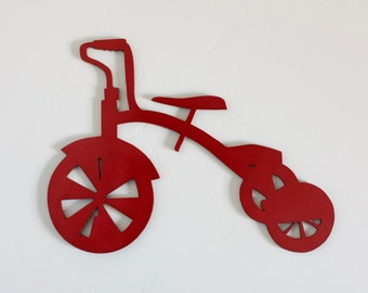 TRICYCLE Cutout, Wood Tricyle, Bike cutout, Toddler Bike decor, Children room, playroom decor, Wood tricycle craft, baby room decor, trike