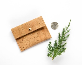 Card case women, cork coin purse, cork card holder, cork purse, cork wallet, cork coin purse, vegan card holder