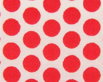217548 light cream fabric with red dot circle