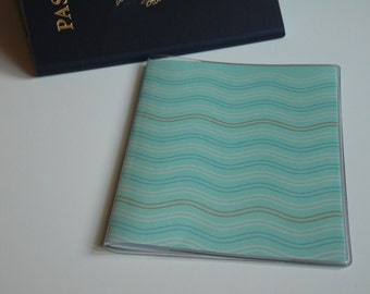 Passport Cover, Aqua Blue Waves. Passport  Sleeve, Case, Holder