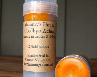 Mammy's Goodbye Aches! for sore muscles and joints