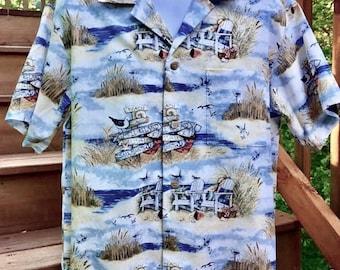 Beach Hawaiian Shirt -size XXL -ready to ship!