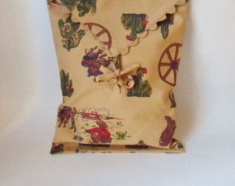 Western Pillow Cover,  Envelope Style Cowboy Pillow Cover
