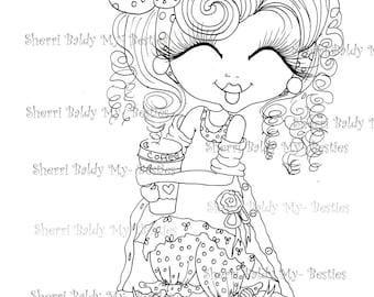 INSTANT DOWMLOAD Digital Digi Stamps Big Eye Big Head Dolls Digi New My Besties Remix1 By Sherri Baldy