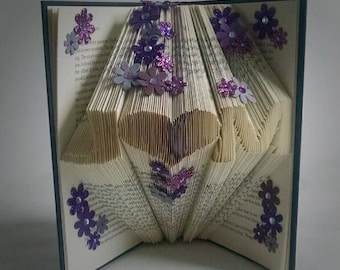 Monogrammed Gift Ideas - Wedding Gift - Unique - Personalized - Gift for Couple - Folded Book Art - Customized Gift - Gift For Bride
